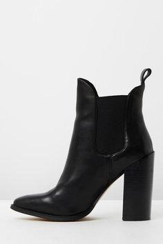 A sophisticated black chelsea boot to style with your favourite outfits this season. Grinder features a quality Italian leather upper material, leather collar lining and features a heel height of 10.5cm. Style with: - White shirts - Skinny high waisted jeans - Pleated mini skirt   Grinder Boot by WindsorSmith. Shoes - Booties - Heeled Shoes - Booties - Black New South Wales, Australia