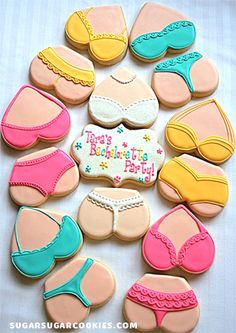 Love these bachelorette cookies from Sugar Sugar Cookies!