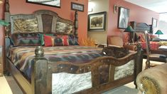 Mountain High Furniture specializes in elegant rustic furniture, western furniture and mountain style furniture that can be customized to your liking. Handcrafted in Colorado! Western Furniture, Rustic Furniture, Bedroom Furniture, Mountain Style, Headboard And Footboard, My Room, Westerns, Running Horses, Elegant