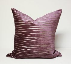 Purple pillow cover, Purple and gold velvet throw pillow cover,plum pillows, grape pillows, gold pillow, purple velvet throw pillow cover