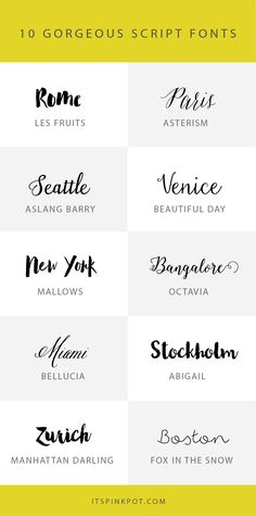 Check out these 10 gorgeous script fonts. Some are free too so enjoy. You will love these if you like calligraphy!