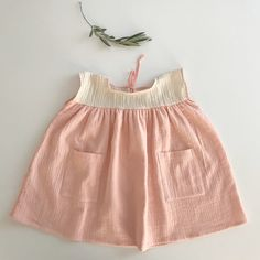 Liilu Oversized Dress, Peach Vanilla - shopminikin
