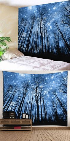 Wall Hanging Forest Print Tapestry