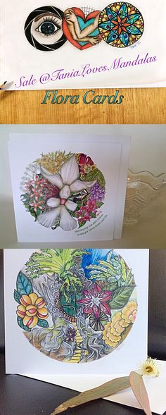 Australian Flora is amazing!  Treat your friends with these beautiful cards 15% off .....but the clock is ticking...only 15 hours left. Use Coupon Code: PIN15 at TaniaLovesMandalas Etsy Shop.