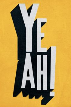 Items similar to Yeah, yellow version. Large illustration print x (Special SPRING offer: get a poster for free) on Etsy Typography Letters, Typography Prints, Typography Poster, Hand Lettering, Typography Wallpaper, Hand Drawn Fonts, Cool Typography, Calligraphy Letters, Type Design