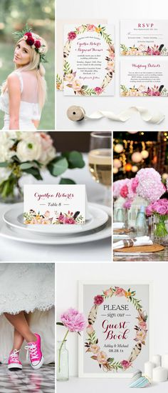 As long as you select this Bohemian Feather Floral wedding invitation suite, you're boho wedding theme is going to be perfectly set up. Look at this Bohemian ideas below and we are sure you'll get inspired!