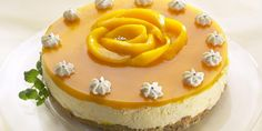 Mango-Juustokakku Delicious Desserts, Yummy Food, Mango Cheesecake, Baked Potato Recipes, Fusion Food, Sweet Pastries, No Bake Treats, Love Food, Cake Recipes