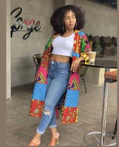 African Clothing/ Women Clothing/ Ankara Patches/Ankara Jacket/ Ankara Print/ African Print