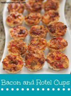 Bacon and Rotel Cups combine awesome ingredients for a delicious and addictive appetizer. They are easy to make and are a crowd pleaser! They are perfect for Memorial Day Weekend barbeques or any party!