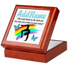 DAZZLING GYMNAST Keepsake Box Personalized Gymnastics keepsake and jewelry boxes décor to delight your beautiful Gymnast. http://www.cafepress.com/sportsstar/10114301 #Gymnastics #Gymnast #WomensGymnastics #Gymnastgift #Lovegymnastics #PersonalizedGymnast