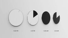 Circadian 7 - Minimalistische design klok: Circadian Clock - Manify.nl