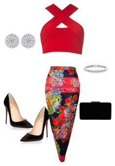 """Untitled #41"" by luxorarima on Polyvore featuring Christian Louboutin, Dolce&Gabbana, Motel and John Lewis"
