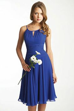 blue bridesmaid dresses...I like the style of this dress. This would make a perfect in a different color