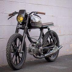 """The latest out of @Rogue Mopeds of #Philadelphia ⚡️Full custom 1979 Puch Magnum built for cross fit super star Chris Spealler ! @cspealler #moped…"""