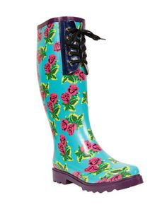 Betsey Johnson rainboots. My favorite thing to wear in rain.