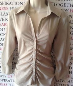 CUE Ladies 3/4 Sleeve Shirt SIZE 10 GUC