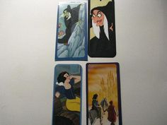Snow White and the Seven Dwarfs - Set of 4 Bookmarks- Ready for your child's favorite book -Goodie Bag for a birthday party- by ScrapPantry, $2.00 USD