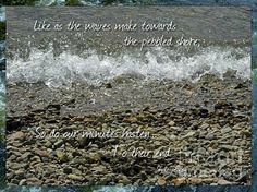 An inscription taken from Shakespeare's Sonnet 60, the picture from Ullapool beach in Scotland was perfect for this quote...