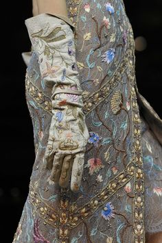 Beautiful embroidery...Vivienne Westwood at Paris Fashion Week Spring 2012