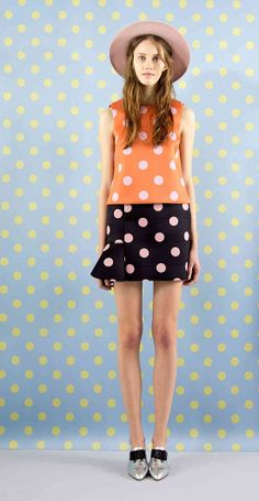 vivetta wonderful quirky yumi and vintage style polka dots with pretty bowler or school boater