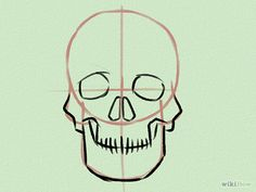 How to draw skulls!