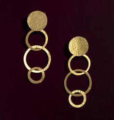 Herve Van Der Straeten Multi Loop Clip Drop Earrings Major Style Statement All Lobes $250
