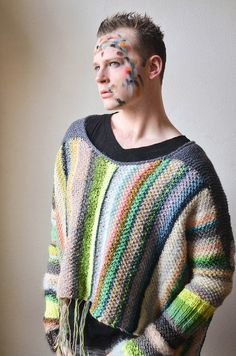 Amazing Technicolor Dream Sweater 3 by west knits in worsted and doubled fingering
