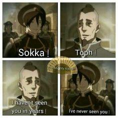 HAHAHA!!! One of Toph's many blind jokes!