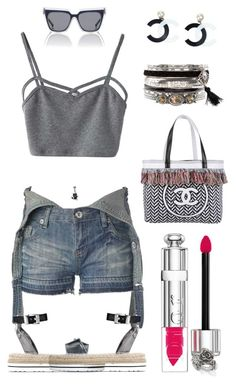 """CC"" by bren-johnson ❤ liked on Polyvore featuring New Look, Christian Dior, WithChic, Love Moschino, Chanel and Natures Jewelry"