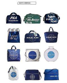 Pan Am kelioniniai krepšiai. Pan Am bags Airline Logo, Airline Travel, Air Travel, Travel Bags, Travel Backpack, Vintage Luggage, Vintage Travel Posters, Vintage Airline, Vintage Bags