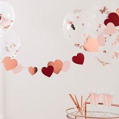 Slinger hartjes rosé, rood en roze (2m) Ginger Ray | Partydeco.nl