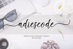 Introducing Adiescode Script Adiescode Script a new fresh & modern script with a handmade calligraphy style, decorative characters and a dancing baseline! Handwritten Fonts, Calligraphy Fonts, Script Fonts, All Fonts, Text Fonts, Calligraphy Alphabet, Holiday Fonts, Christmas Fonts, Beautiful Calligraphy