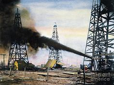 Texas Photograph - Spindletop Oil Pool, C1906 by Granger