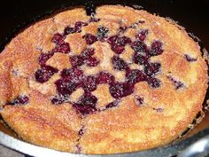 Everyday Dutch Oven - Blackberry Cobbler  Good ideas for Ron's camping trips