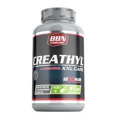Die Creathyl Caps von BBN Hardcore enthalten pro Portion 3,3 g Creatin und 1,2 g L-Arginin in der veganen XXL Kapsel aus Cellulose.
