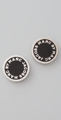 Marc Jacobs Logo Disc Stud Earrings got em for every1 for Xmas even me lol saks.com. Love the cream gold ones