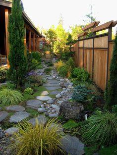 Garten Steine - eine Gartengestaltung, so nah an der Natur
