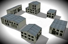 Here are more nice paper buildings created by Spanish designers Mónica and Anibal, from Edifícios De Papel website. They are perfect for Dioramas, RPG and Wargames and you can choose between six different scales: 1/56 scale(28mm), 1/72 scale, HO scale (1/87), 1/100 scale (15mm), N scale (1/160) and Z scale (1/220).   - papermau