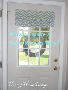 "Homey Home Design: A 'No Strings"" Roman Blind using velcro"