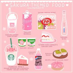 Sakura themed foods