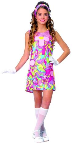 sc 1 st  Pinterest & Childu0027s Disco Girl Costume | Discos Costumes and 50th party