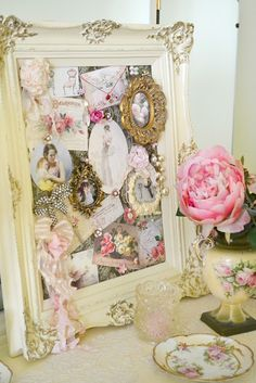 shabby chic or any them decoration for a table/ flat surface!
