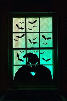 Decorated my window for Halloween with a Vinyl Decal of some flying bats and a spooky Oogie Boogie Silhouette. Diy Halloween Window Decorations, Nightmare Before Christmas Decorations, Nightmare Before Christmas Halloween, Halloween Party Decor, Halloween Diy, Diy Halloween Ornaments, Halloween Silhouettes, Halloween Painting, Ramen