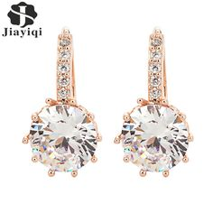 2016 New Vintage Cuff Clip Earrings Gold Crystal Bling Earring for Women Girls Christmas Gfit Fashion Wedding Jewelry   * Click on the image for additional details.