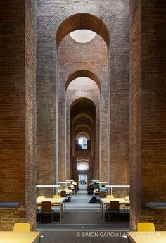 Library 'Diposit de les Aigues'   Barcelona. Rehabilitation project: the building opened in 1880 as the water tank (Roman prototype construction).