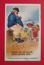 CPA illustrateur DONALD MAC GILL comique postcard UK children enfant marin