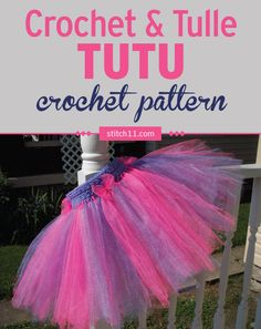 What little girl doesn't lovetutus? Use this crochet pattern to make an adorable no-sew tutu with crochet waistband for your baby or little girls.This tutu fits 18-month olds andupto 3T. My niece Olivia has a birthday coming up. The party theme is going to be princess/ballerina. So what better gift could I create other than …