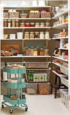 Or in the pantry. | This Kitchen Cart Is The Only IKEA Item You Really Need Use in pantry!