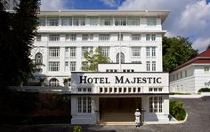 The Majestic Hotel Kuala Lumpur comprises two sections: the original hotel that was built in 1932 and became one of the most gracious addresses in the city, and the Tower Wing, a 15-storey addition completed in 2012. The Majestic Wing truly is a step back into the days when The Majestic was the largest and grandest hotel in the city. It's a hybrid of neo-classical and art deco styles; a place where afternoon tea is still served while a pianist plays languid afternoon tunes. Colonial Mansion, Grand Budapest Hotel, Heritage Hotel, Leading Hotels, Great Hotel, Cheap Hotels, Luxury Holidays, Staycation