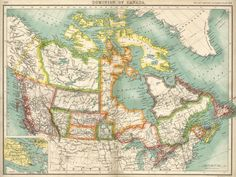 This map shows what Canada looked like near end of the century. 15 Interesting Maps That Will Change The Way You See Canada Vintage Maps, Antique Maps, Desktop Background Images, Backgrounds, Paris Map, Map Globe, Canadian History, Old Maps, City Maps